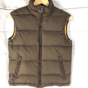 4/$20 UNIONBAY Premium Puff Brown Yellow Vest Sz L